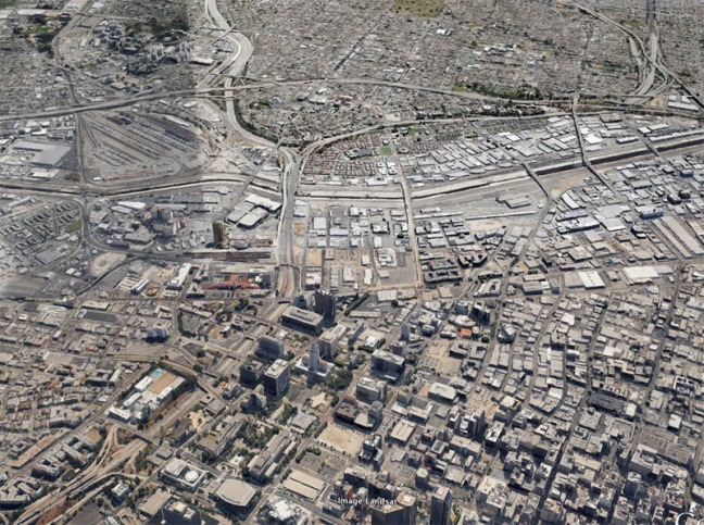 Roughly the same view in 2013. Imagery courtesy of Google Earth.